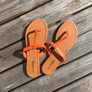 ☀️3/$25 Orange Thong Sandals